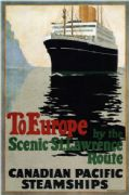 Vintage Travel Poster to Europe- St Lawrence